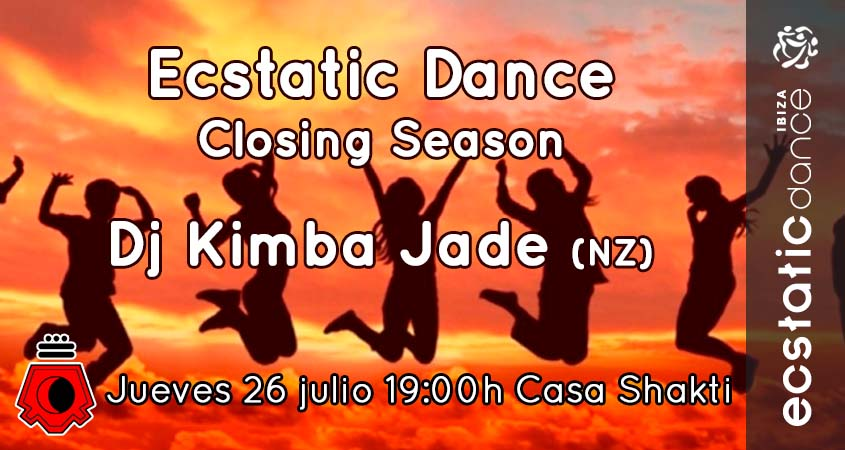 Ecstatic Dance Closing Season   26 julio   Casa Shakti